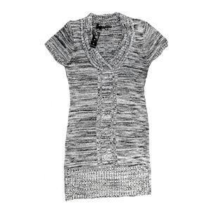 NEW Tiana B. Black White & Gray Sweater Dress - M